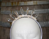 Mermaid Crown - Shell Crown - Festival Crown - Bridal Crown - Bridal Headpiece - Mermaid Costume. READY TO SHIP