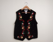 Bells and Holly Christmas Vest