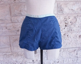 60's Hot Pants Shorts High Waisted Beach Shorts Small Hot Pants Women's Swim Trunk Size 4 Pin Up Girl Shorts