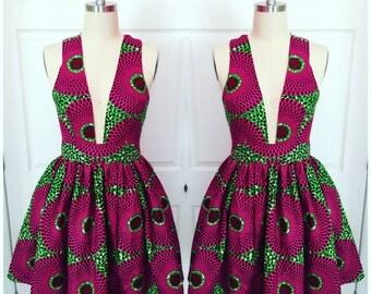 Melon Skater Dress