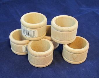 Raw Wood Craft Supplies Destash - Napkin Rings