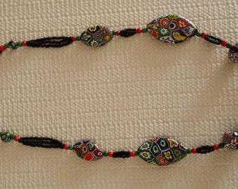 Vintage Millefori Necklace