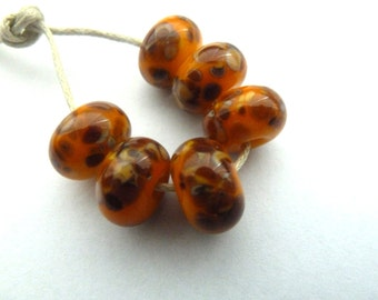 honey frit, uk lampwork glass beads
