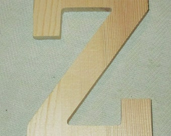 Large Wooden Letter - Capital Z -  Personalize It