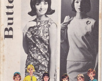 1960's Sewing Pattern - Butterick 2624 Shift Dress, Coat, Skirt, Overblouse  Size 16 Bust 36 Inches Uncut, Factory Folded.