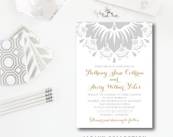 Albany Wedding Collection | Wedding Invitation and additional pieces | Printed or Printable by Darby Cards