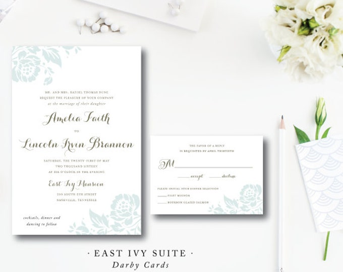 Featured listing image: East Ivy Design | Wedding Invitation & additional pieces | Printed by Darby Cards Collective