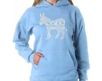 Women's Hooded Sweatshirt - I Vote Democrat