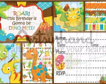 Dino Birthday Invitation