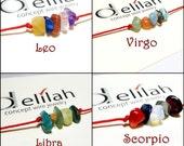 Leo Bracelet Virgo Bracelet Libra Bracelet Scorpio Horoscop Bracelet String Bracelet Zodiac Bracelet Birthstone Bracelet Minimalist Bracelet