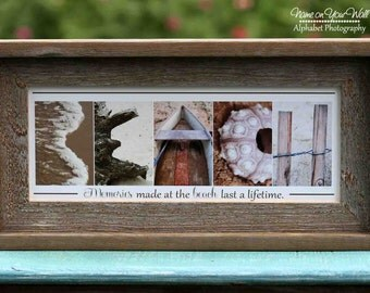 BEACH - Alphabet Photography Artwork - 7.5x16 inches
