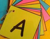Alphabet Flash Cards, Laminated, Ring, Alphabet Letters, ABC Flash Cards, Alphabet Cards, Preschool Learning, Toddler Learning, Kindergarten