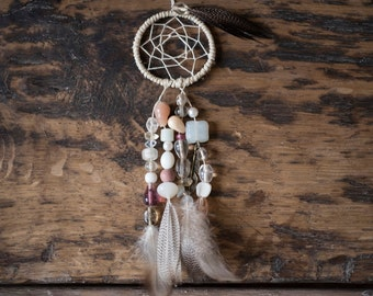 Small, Car-Size or Ornament, Pink Dream Catcher