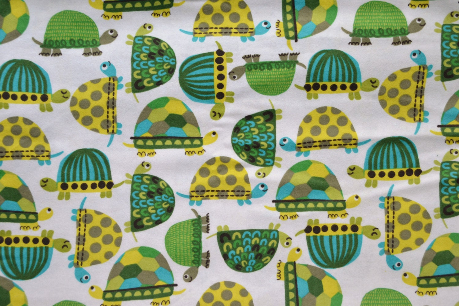 Turtles fabric by the yard baby boys cut by the 1 2 yard for Baby fabric by the yard