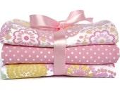Baby Girl Burp Cloth - Handmade Burp Cloth - Baby Shower Gifts - Baby Burp Pad - Cottage Chic - Pink Burp Cloths - Baby Gift Set - Burp Rag