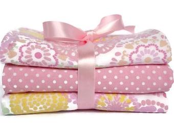 Cottage chic burp cloth - burp cloths girl- handmade burp cloths - custom burp cloth - pink burp cloths - baby gift set- boutique - burp pad