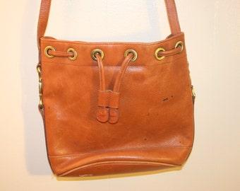 Liz Claiborne Leather Purse,boho purse,bohemian bag,hippie purse,bucket bag,drawstring bag,drawstring purse,boho bohemian bag,hippie bag