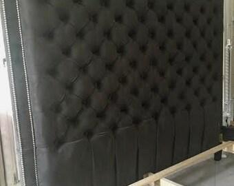 tall headboard etsy. Black Bedroom Furniture Sets. Home Design Ideas