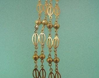 Ladies Estate Vintage 16 Inches-Pure 18-20kt Yellow Gold Chain Ornate Filigree Necklace