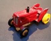 Vintage Red Husky Diecast Farm Tractor EIM Volvo Made in Great Britain - Tiny