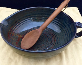 "8-1/2"" dia. x 3-1/2"" tall Stoneware Pottery/Ceramic Batter Bowl with Ancient Jasper High Fire Glaze"