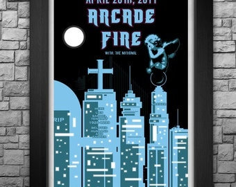 """ARCADE FIRE inspired limited edition 11x17"""" tour poster"""
