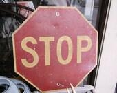 Vintage Stop Sign 1950s Traffic Sign