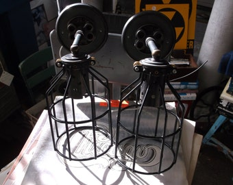 Pair of Custom Industrial Wall Sconces Custom Lighting