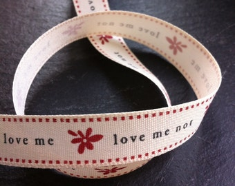 15mm Love Me Love Me Not Ribbon