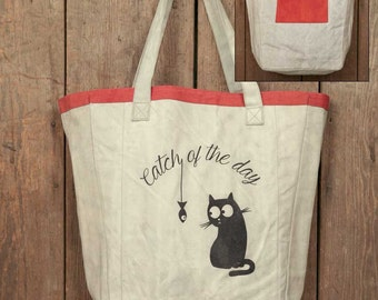 Catch of the Day Canvas Market Bag