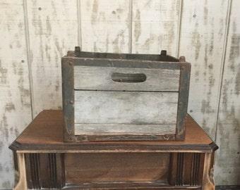 Vintage Wood and Metal Milk Crate Old Milk Crate Sealtest