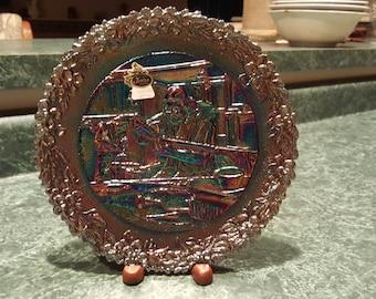 Fenton Collector Plate - Gunsmith - Amethyst