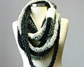 OMBRE Tube scarf, Finger Knitted infinity scarf, colorfull handmade neckwarmer, autumn winter fashion women accessories