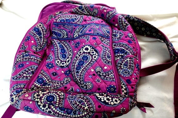 Backpack Vera Bradley Purple Paisley Backpack W Straps 12