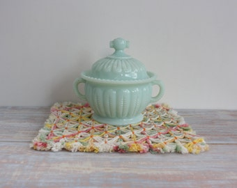 Mint green sugar bowl- Free Shipping