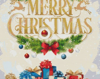 Christmas Greeting Cross Stitch Patterns Instant Download pdf