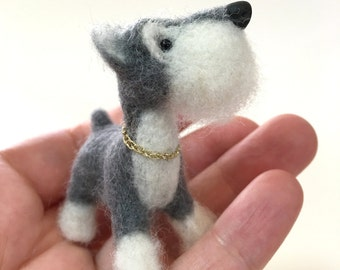 Schnauzer, Dog, Silver Mini Schnauzer, Custom Order Only by Marin Lubomirsky