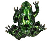 Jeweled Frog Door Knocker with Pizzazz and Natural Glamour
