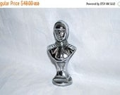 ON SALE Medieval Lady Lamp Finial, Silvery and Unusual