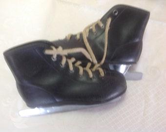 kids ice skates vintage boots shoes