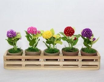 Mini Handmade Clay Hydrangea