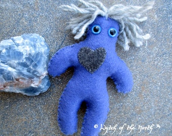 MERCURY Planetary Magick Herbal Poppet - Handmade Rustic Plushie, Felt Doll, Pagan Doll, Communication, Creativity, Inspiration