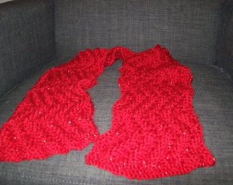 Hand Made Meandering Rib Scarf