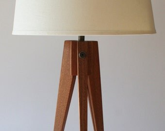 Table Lamp Tripod Slim - Sapele