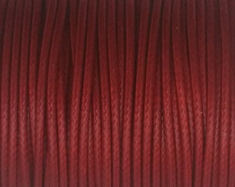 5 YARDS - 2MM Red Woven Braided Waxed Cotton Cording Trim #12