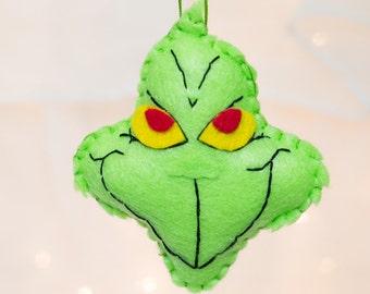 Felt Grinch Ornament