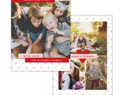 INSTANT DOWNLOAD - Valentine Photocard Template - e1190