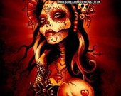 Day of the Dead Art,  Day of the Dead Picture ,Dia De Los Muertos ,NOT (day of the dead T-shirt,Day of the dead jewelry,day of the dead bag)