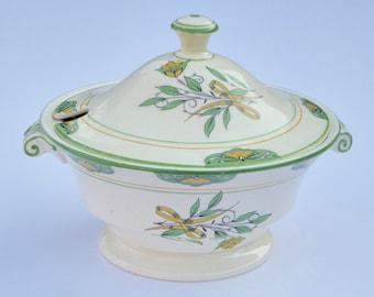 1920s Mintons Art Deco Lidded Soup Bowl Vintage Kitchen Vintage Table Vintage Serving Vintage Housewares Kitchenalia
