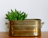 Vintage Brass Planter Double Planter Flower Succulent Pot Rustic Brass Garden Spring Decor Boho Chic
